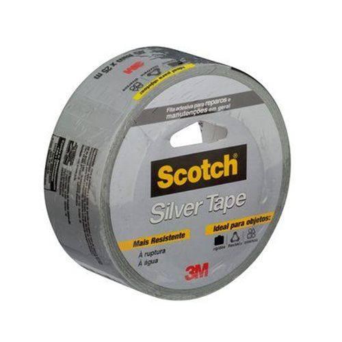 Fita 3M Scotch Silver Tape 45 Mm X 25 M