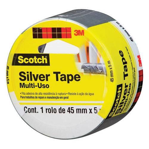 Fita Multiuso Silver Tape 45mm X 5m