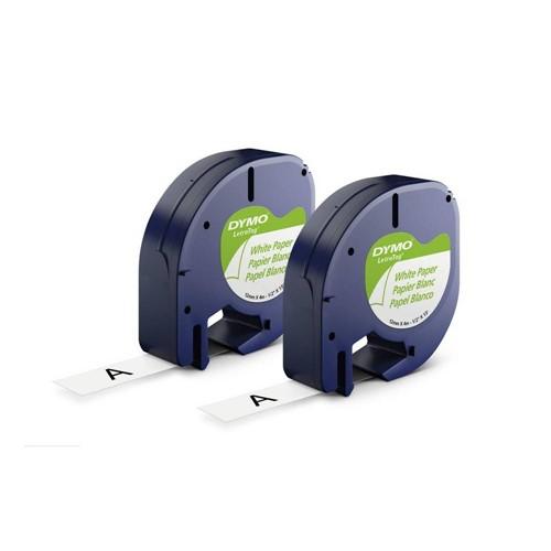 Fita Papel Dymo Auto-Adesiva P Rotulador Eletrônico Letratag (12mm X 4 Mts)