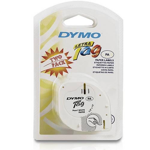 Fita Papel Dymo P/ Rot. Eletrônico Letratag (12mm X 4 M) Pct C/ 2und Branca - Imex
