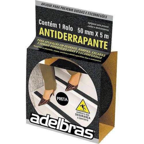 Fita para Demarcacao de Solo Antiderrapante 50mmx5mts Preta