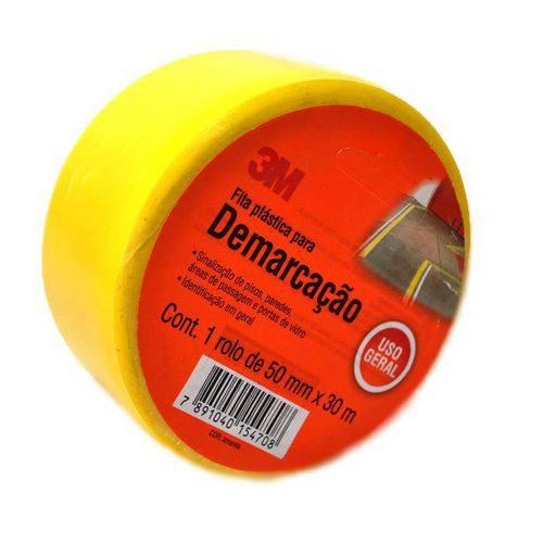 Fita para Demarcação de Solo 3m 50mm X 10 Metros Amarela