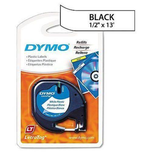 Fita para Rotulador Dymo Letratag Plastica Branca