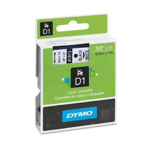 Fita Poliéster Dymo Auto-Adesiva P/ Rotulador Eletrônico Profissional (9mm X 7 Mts) - Preto/ Branco