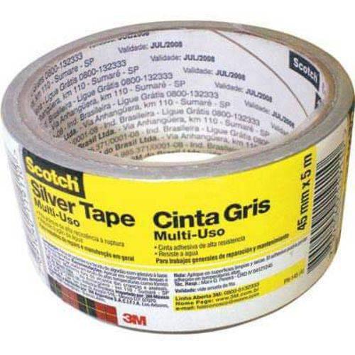 Fita Silver Tape 45mm X 5m (Emb. Contém 4un.)-3M