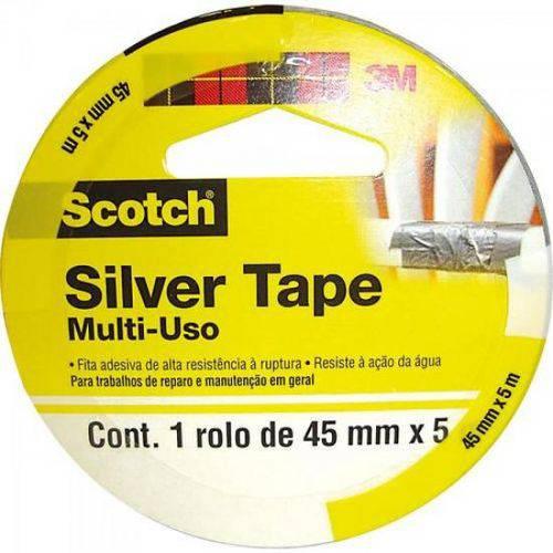 Fita Silver Tape 45mm X 5m Sleeve 3939 Cinza 3m