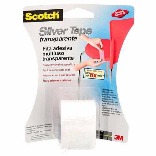 Fita Silver Tape 38mmx4m,57cm Transparente Hb004102750 3m Blister
