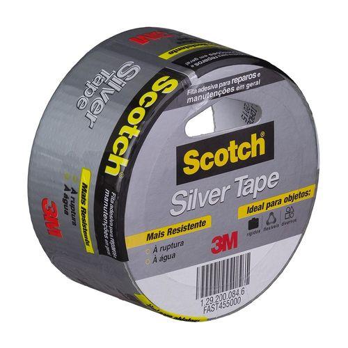 Fita Silver Tape Scotch Cinza 45mm X 5m 3m Oficial