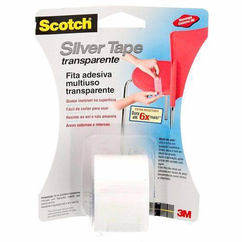 Fita Silver Tape Transparente 3m 38 X 4,57 Metros