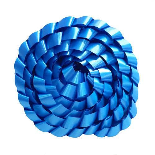 Fita Trançada Lisa Azul Médio 2MT - Laleti