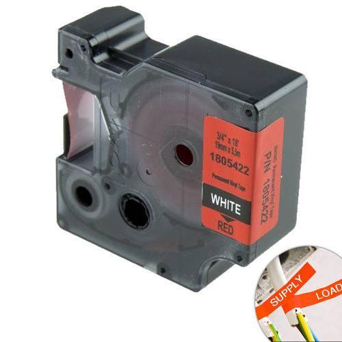 Fita Vermelha Vinilica/pvc 19mm X 5.5m para Rotulador Profissional Rhinopro Dymo