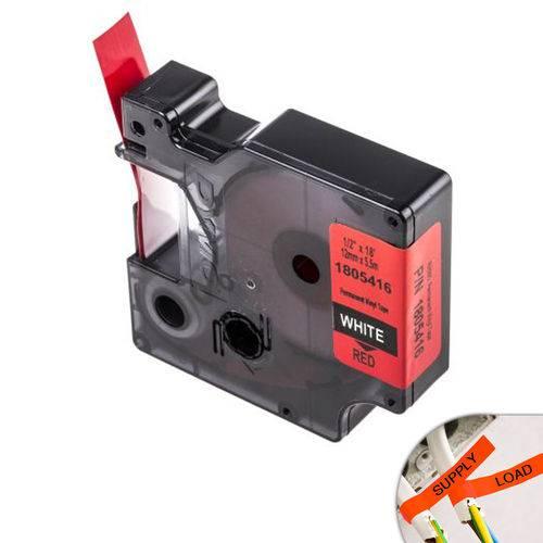 Fita Vermelha Vinilica/pvc 12mm X 5.5m para Rotulador Profissional Rhinopro Dymo