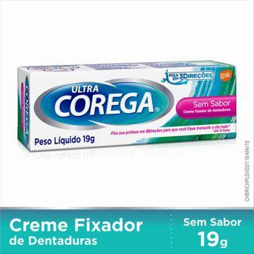 Fixador de Dentadura Ultra Corega Creme 19g
