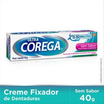 Fixador de Dentadura Ultra Corega Creme 40g