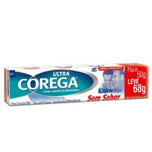 Fixador de Dentadura Ultra Corega Creme Sem Sabor 50 G