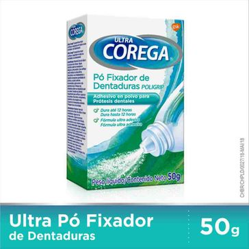 Fixador de Dentadura Ultra Corega em Pó 50g