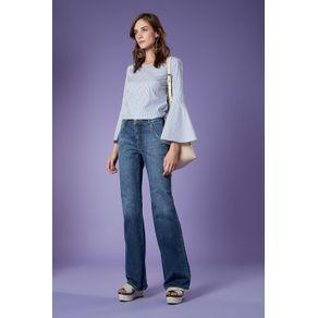 Flare Bolso Faca Jeans - 36