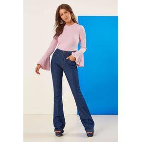 Flare Pespontada Jeans - 40