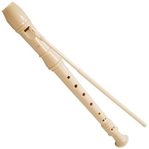 Flauta Doce Soprano Germânica Bege Trc57g Concert