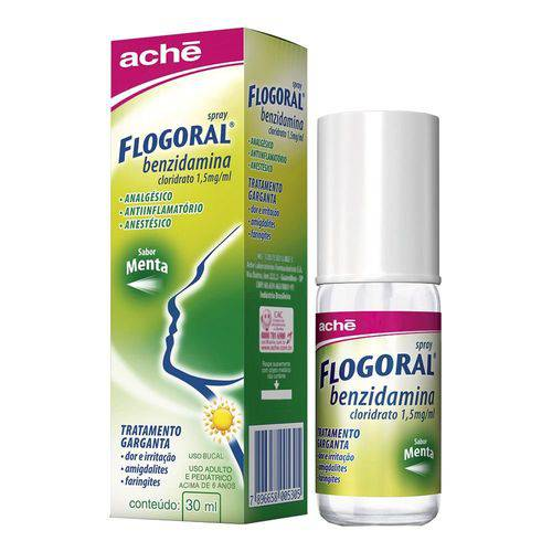 Flogoral Spray Sabor Menta com 30ml (novo)
