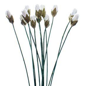 Flores Artesanais Botões Coleção Clássica com 12 Unidades Ref.20524-FLOR174 Toke e Crie