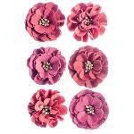 Flores Artesanais Feito a Mão Lisiantus Rouge FLOR111 - Toke e Crie