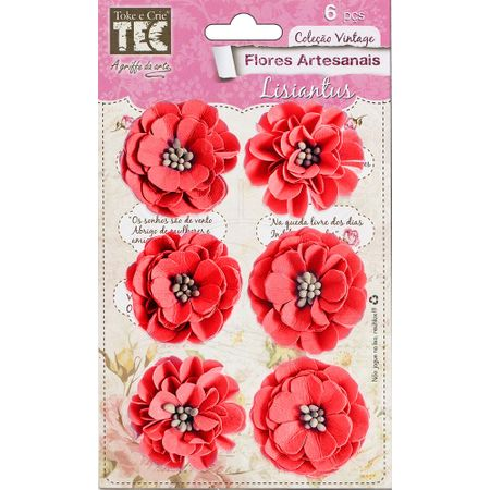 Flores Artesanais Lisiantus Coleção Feito à Mão - Rouge