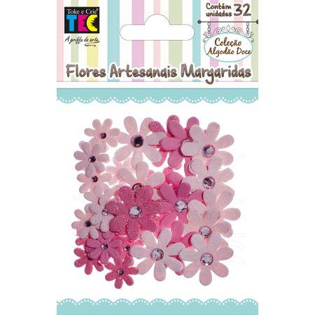 Flores Artesanais Margarida Coleção Algodão Doce - Rosa