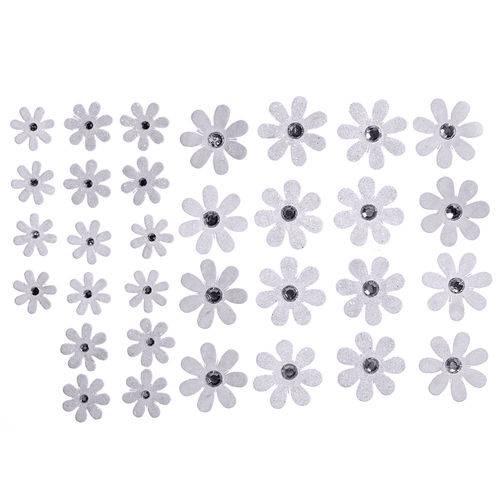 Flores Artesanais Margaridas Brancas Coleção Algodão Doce Flor144 - Toke e Crie