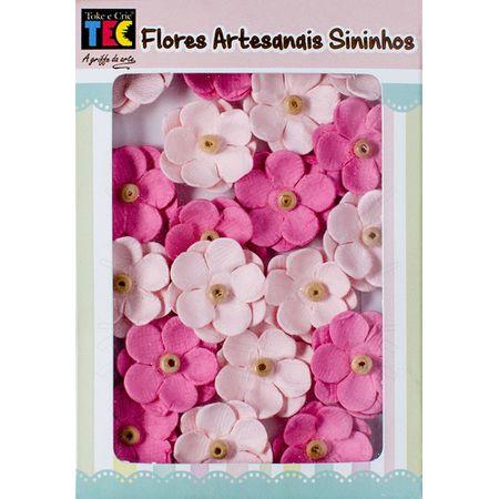 Flores Artesanais Sininho Coleção Algodão Doce - Rosa