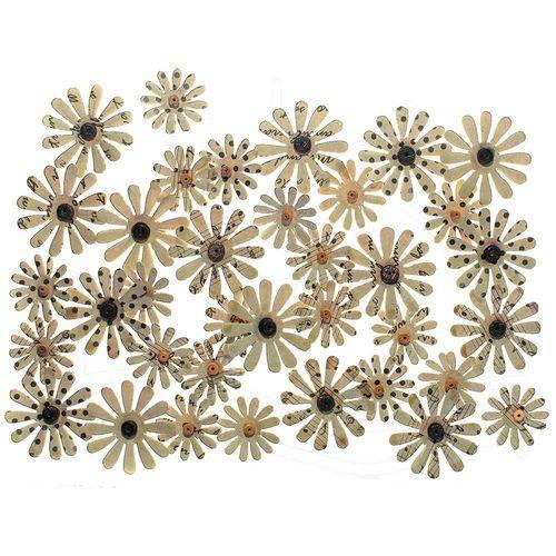 Flores Artesanais Vintage Kraft - Margaridas Finas