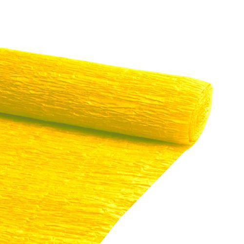 Folha de Papel Crepom Amarelo Realce