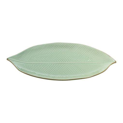 Folha Decorativa de Cerâmica Verde Banana 4124 Lyor