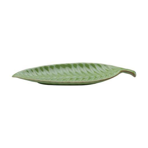 Folha Decorativa de Cerâmica Verde Leaf II Grande 3874 Lyor
