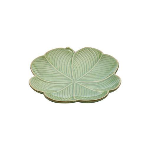 Folha Decorativa de Cerâmica Verde Leaf II Pequena 4137 Lyor