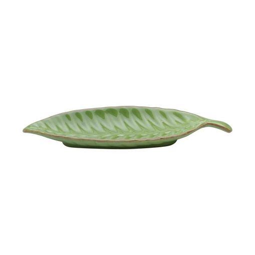 Folha Decorativa de Cerâmica Verde Leaf II Pequena 3875 Lyor