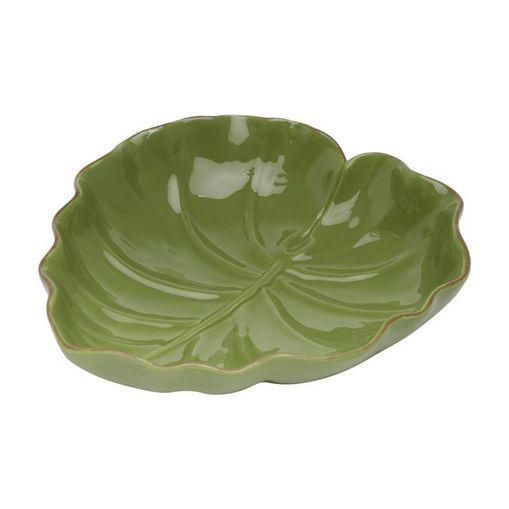 Folha Decorativa de Cerâmica Verde Leaf Pequena 3871 Lyor
