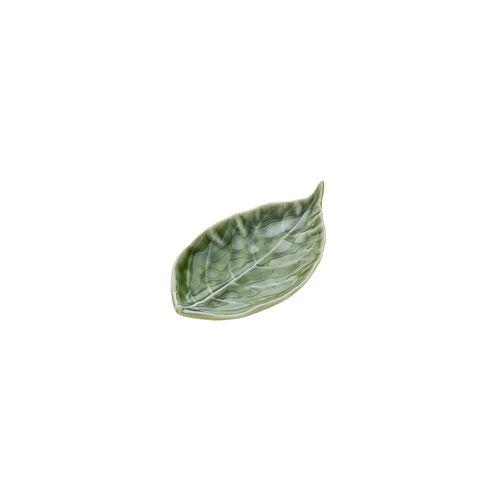 Folha Decorativa Verde Salow Leaf 13,5cm
