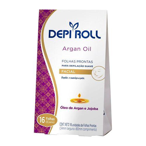 Folha Depilatória Facial Depi Roll Argan Oil 16 Unidades