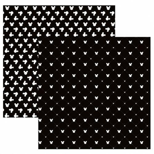 Folha para Scrapbook Disney Toke e Crie Mickey Mouse Estampado Preto – Sbd04 – 208
