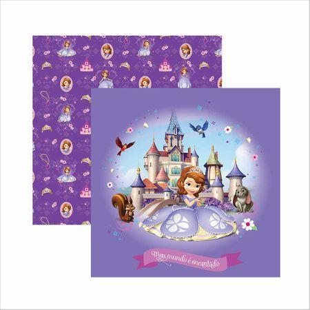 Folha para Scrapbook Dupla Face Disney - Princesinha Sofia Guirlanda