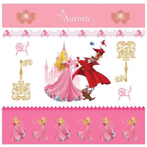 Folha para Scrapbook Dupla Face Disney Toke e Crie Aurora 1 Cenário e Bandeirolas - 20713 - Sdfd142
