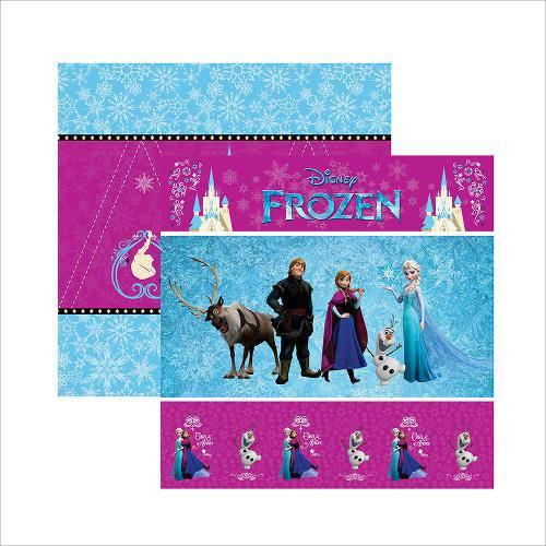 Folha para Scrapbook Dupla Face Disney Toke e Crie Frozen 1 Cenário e Bandeirolas - 19336 - Sdfd042