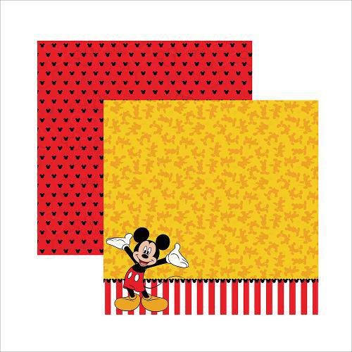 Folha para Scrapbook Dupla Face Disney Toke e Crie Mickey Mouse 2 Barrado - 19312 - SDFD018