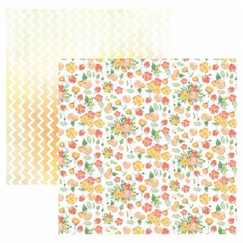 Folha para Scrapbook Dupla Face Toke e Crie Floral Bouquets e Zigzag Aquarelado By Ivi Larrea – Sdf830 – 208