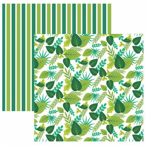 Folha para Scrapbook Dupla Face Toke e Crie Folhagens Tons Verde By Ivi Larrea – Sdf833 – 208