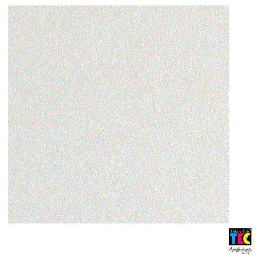 Folha para Scrapbook Puro Glitter Toke e Crie Branco - 16192 - Sdpg15