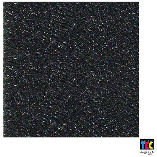 Folha para Scrapbook Puro Glitter Toke e Crie Preto - 7446 - Kfs068