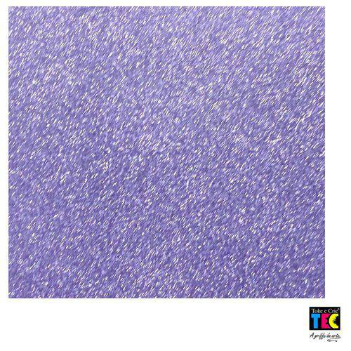 Folha para Scrapbook Puro Glitter Toke e Crie Roxo Royal - 15337 - Sdpg09