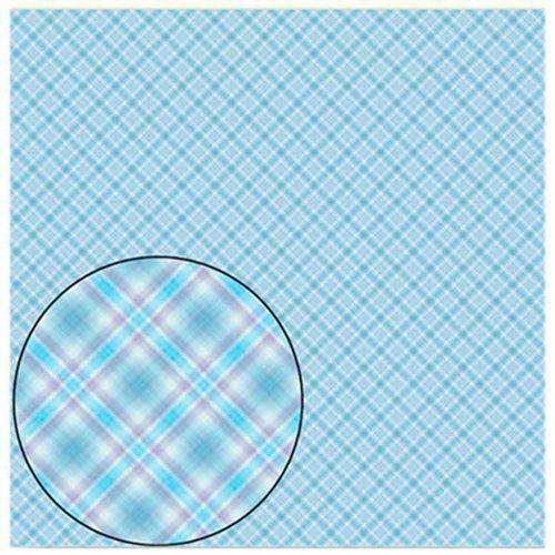 Folha para Scrapbook Simples Litocart 30,5 X 30,5 Cm - Modelo Lsc-118 Listras Cruzadas